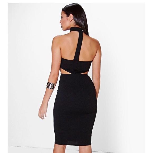 fefb18ebc484 Boohoo Dresses | Jelna Choker Bandeau Midi Dress Black 8 | Poshmark